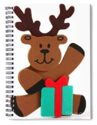 Fun Reindeer Sitting Spiral Notebook