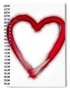 Furry Heart - Symbol Of Love Spiral Notebook