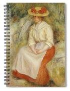 Gabrielle In A Straw Hat Spiral Notebook