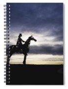 Gaelic Chieftain By Maurice Harron Spiral Notebook