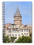 Galata Tower In Istanbul Spiral Notebook