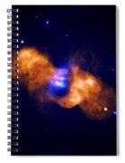 Galaxy Collision Spiral Notebook