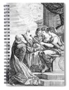 Galileo With Telescope Pointing To Sky Spiral Notebook