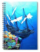 Galleon On The Cliff Filtered Spiral Notebook