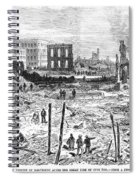 Galveston: Fire, 1877 Spiral Notebook