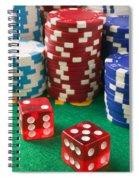 Gambling Dice Spiral Notebook