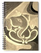 Ganesha In Sepia Hues Spiral Notebook