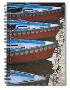 Ganges River, Varanasi, India Moored Spiral Notebook