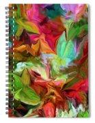 Garden Abstract 072312 Spiral Notebook