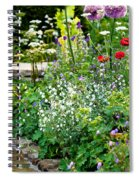 Garden Flowers With Stream Spiral Notebook