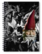 Garden Gnome With Gray Background Spiral Notebook