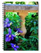 Garden Wall With Periwinkle Flowers Spiral Notebook