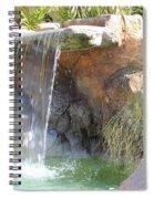 Garden Waterfall Spiral Notebook