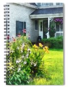 Garden With Coneflowers And Lilies Spiral Notebook