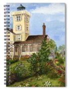 Gardens At Hereford Inlet Lighthouse  Spiral Notebook