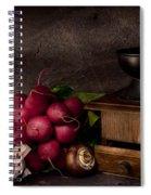 Garlic And Radishes Spiral Notebook