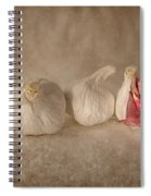 Garlic And Textures Spiral Notebook