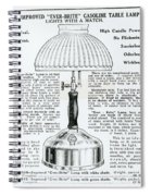 Gas Lamp Ad Spiral Notebook