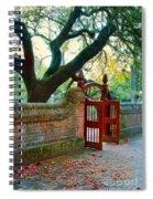 Gate In Brick Wall Spiral Notebook