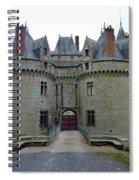 Gate To Chateau De La Bretesche Spiral Notebook