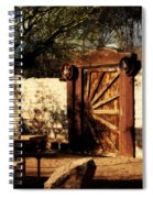Gate To Cowboy Heaven In Old Tuscon Az Spiral Notebook