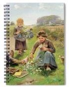 Gathering Flowers Spiral Notebook