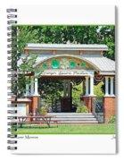 Gazebo In Downtown Monroe Spiral Notebook