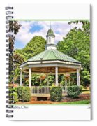 Gazebo In Willoughby Ohio Spiral Notebook