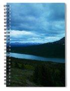 Gazing East Two Medicine  Spiral Notebook