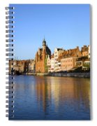 Gdansk Old Town And Motlawa River Spiral Notebook