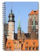 Gdansk Old Town In Poland Spiral Notebook