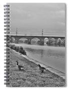 Geese Along The Schuylkill River Spiral Notebook