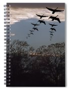 Geese At Dusk Spiral Notebook