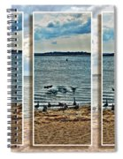 Geese Point Landing Triptych Spiral Notebook