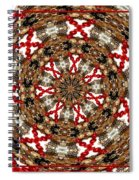 Gemstones And Silver Jewelry Kaleidoscope Spiral Notebook