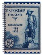 General Kosciuszko Postage Stamp Spiral Notebook