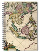 General Map Extending From India And Ceylon To Northwestern Australia By Way Of Southern Japan Spiral Notebook