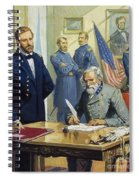 General Ulysses Grant Accepting The Surrender Of General Lee At Appomattox  Spiral Notebook