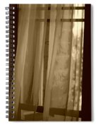 Gentle Breeze In Sepia Spiral Notebook