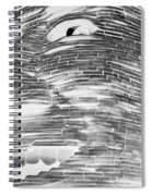 Gentle Giant In Negative Black And White Spiral Notebook