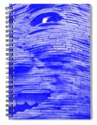 Gentle Giant In Negative Blue Spiral Notebook
