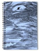 Gentle Giant In Negative Cyan Spiral Notebook