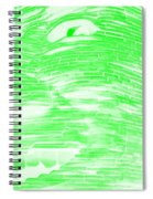 Gentle Giant In Negative Light Green Spiral Notebook