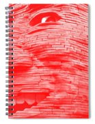 Gentle Giant In Negative Red Spiral Notebook