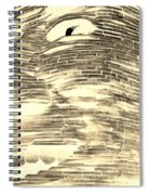Gentle Giant In Negative Sepia Spiral Notebook