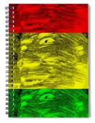 Gentle Giant In Negative Stop Light Colors Spiral Notebook