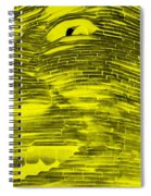 Gentle Giant In Negative Yellow Spiral Notebook