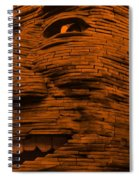 Gentle Giant In Orange Spiral Notebook