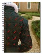 Gentleman In 16th Century Clothing On Garden Path Spiral Notebook