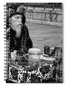 Genuine Palmistry And Tarot Black And White Spiral Notebook